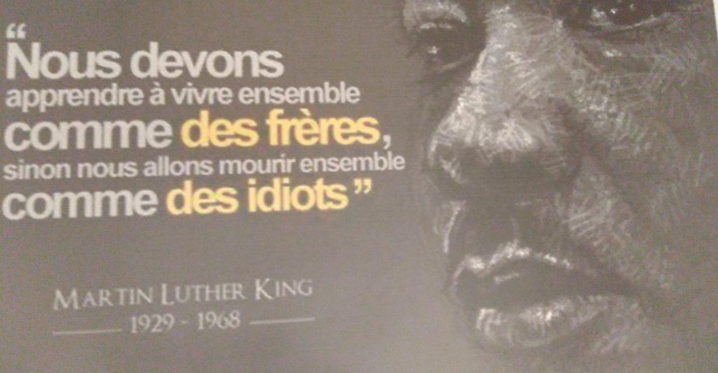 Image de Martin Luther King au Musée da Silva de Porto-Novo