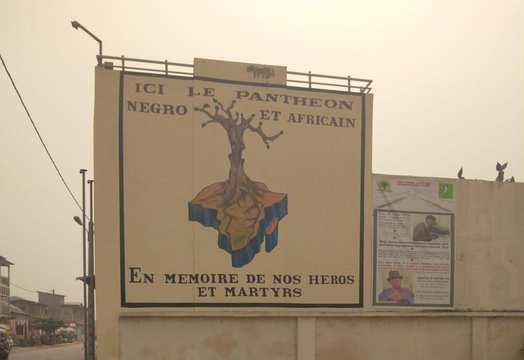 Entrée du Panthéon négro-africain en mémoire des héros et martyrs à Porto-Novo, au Bénin