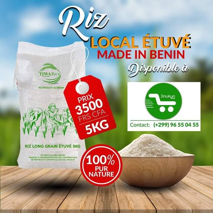 tiwa rice le riz étuvé 100% made in Benin Commomons Local