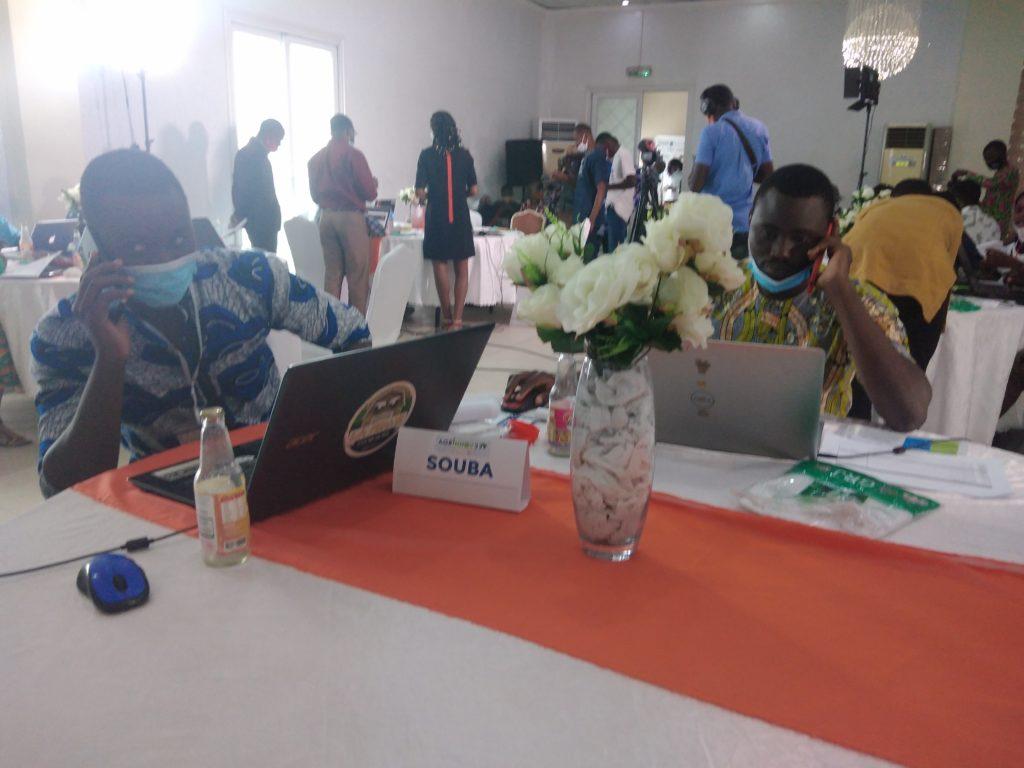 L'équipe Souba durant le hackathon agrinnov 229