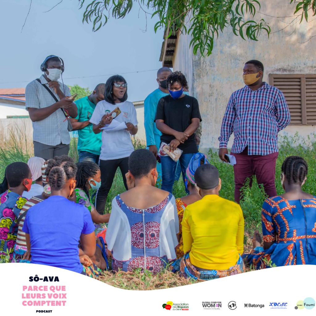 parce que leurs voix comptent - nos voix comptent le podcast sur forum génération égalité hommes-femmes au Bénin en Afrique