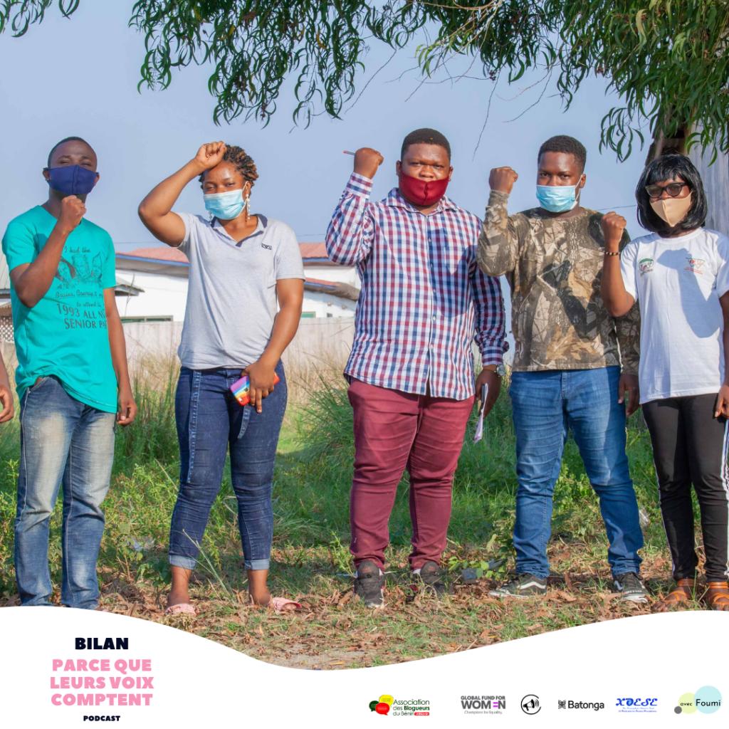 parce que leurs voix comptent - nos voix comptent le podcast sur l'égalité hommes-femmes au Bénin en Afrique