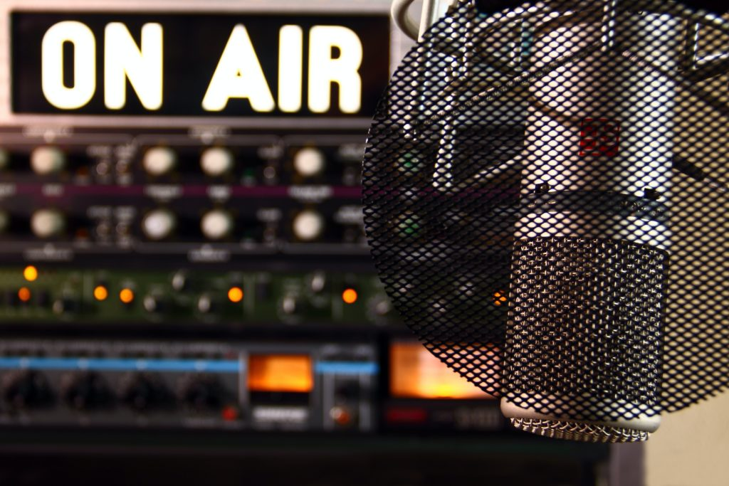 studio de radio thématique la radio et la personnalité