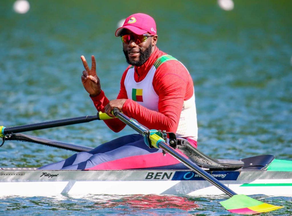 privel hinkati beninese rower tokyo olympic games