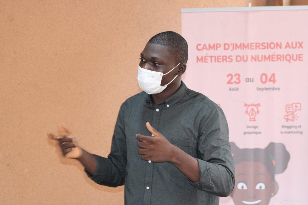 foumilayo assanvi au guerra hub camp de découverte des métiers du numérique bénin