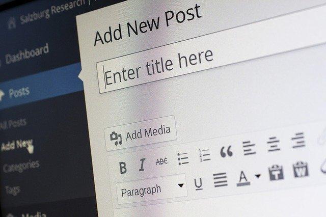 interface wordpress blog